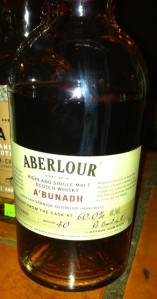 "Aberlour A'bunadh, the ""star"" of that night"